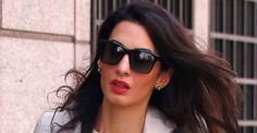 Amal Alamuddin Tahitian Pearl stud earrings