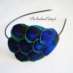 ELLIE  Peacock Feather Headband Fascinator or by TheHeadbandShoppe, $32.00
