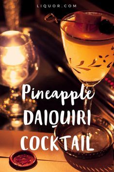 This simple rum pineapple #daiquiri is a delicious modern twist on a classic #cocktail.