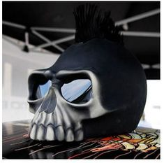 skull helmet mohawk