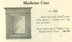 Medicine cabinet from Chicago & Riverdale Lumber catalog, 1910.