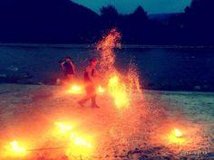 Pokaz ogni był zakończeniem festiwalu.