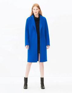 bright blue long coat, sapphire blue, cobalt blue, royal blue, bright blue, pantone lapis blue