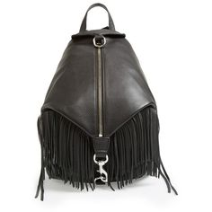 Women's Rebecca Minkoff 'Julian' Backpack with Fringe (101.390 HUF) found on Polyvore featuring women's fashion, bags, backpacks, boho bags, backpack bags, bohemian bags, bohemian backpack and boho style bags