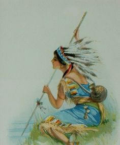 Indian Maiden in Chromolithography,  by Jesse Parker Barrick kp