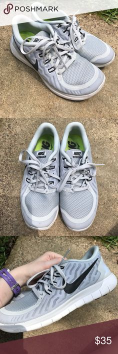 Wolf grey Nike Free 5.0 Well loved wolf grey Nike Free 5.0 Nike Shoes Athletic Shoes