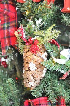rustic plaid farm house cabin christmas tree by kara allen karaspartyideascom for - Rustic Plaid Christmas Decor