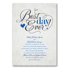 Chevron Best Day Ever Wedding Invitations http://bustlingbride.carlsoncraft.com/Wedding/Wedding-Invitations/3254-TWS40755-We-Heart-Chevron--Invitation.pro
