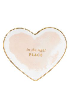 """""""Posy Court"""" Heart Dish by Kate Spade New York. Photo: Courtesy of Nordstrom."""