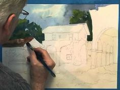 ▶ California Mission Watercolor Demo Part 2 of 5 - YouTube