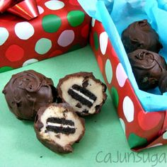 {Christmas Gifts} Mini Oreo Cookie Dough Truffles Recipe - ZipList