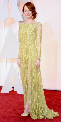 Academy Awards 2015 Red Carpet Arrivals - Emma Stone from #InStyle