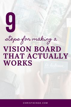 How To Make A Vision Board That Actually Works vision board vision book dream board vision list dreams intentional living