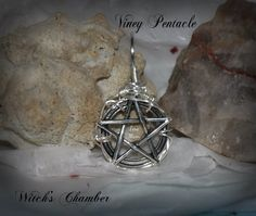 Embellished Pentacle Pendant Wicca Witch by WitchsChamber on Etsy