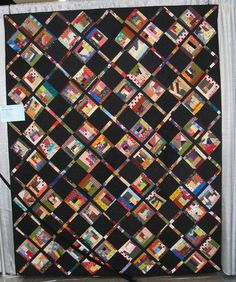 Crumb quilt blocks in a great setting