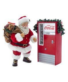 Coca-Cola fans will appreciate the Kurt S. Adler 2 Piece Battery Operated Santa with Coca-Cola Machine Tabletop Decoration , featuring Santa Claus. Chunky Knit Throw Blanket, Fuzzy Blanket, Coke Machine, Vending Machine, Santa Figurines, Christmas Figurines, Green Garland, Seasonal Decor, Coco