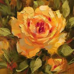"""Daily+Paintworks+-+""""Yellow+Delight""""+-+Original+Fine+Art+for+Sale+-+©+Krista+Eaton"""