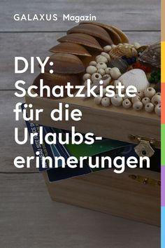 Hast du und deine Kinder im Urlaub Muscheln und andere Erinnerungsstücke gesammelt? Schmücke damit eine Schatztruhe und bewahre die schönsten Erinnerungen darin auf. Stuffed Mushrooms, Vegetables, Food, Treasure Chest, Seashells, Stuff Mushrooms, Essen, Vegetable Recipes, Meals