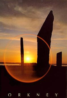 Midsummer sunset, Standing Stones, Orkney, UK The most beautiful place all over the world Beautiful Sunset, Beautiful Places, Orkney Islands, Scottish Highlands, Scotland Travel, Nature Scenes, Heaven On Earth, Amazing Nature, Travel Posters