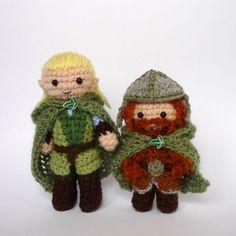Custom listing for Kirstie: Legolas and Gimli. $40.00, via Etsy.