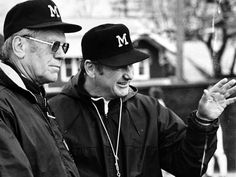 President Gerald Ford, left, with Michigan football coach Bo Schembechler in an undated file photo. (University of Michigan). Dads Good friends but not dropping names. Michigan Athletics, Michigan Wolverines Football, University Of Michigan, State University, U Of M Football, College Football Players, Football Stuff, Alabama Football, American Football