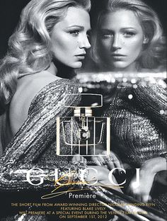 Effortless: Blake Lively poses as the new face of Gucci
