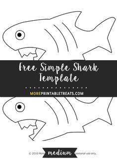 Free Simple Shark Template - Medium
