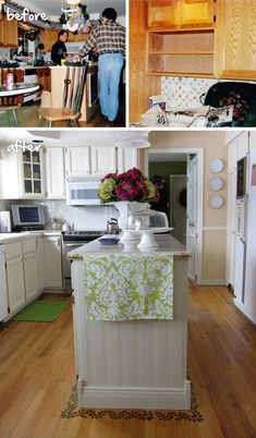 DIY before and after kitchen @MyColortopia