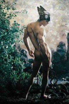 Hermes, or Mercury, the god of travellers and shepherds in Greek mythology.