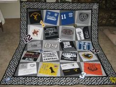Favorite t shirt quilts. So many BYU shirts, gotta do this one! melinda4p