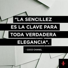 Coco Chanel | Frase | Diseño |Elegancia