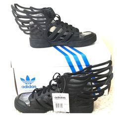 Adidas Jeremy Scott Wings 2.0 Cutout Size: 8 Brand New with box and tag. Never been worn. It's way too big for me. This shoe is a size 8 and can be worn by both male and female Adidas Shoes Sneakers