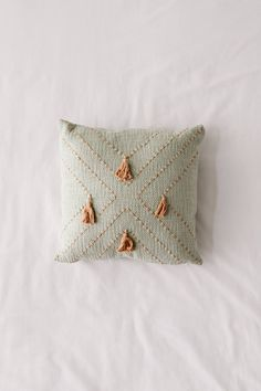 (no title) Nora sewn tassel throw pillowNora sewn tassel throw pillow