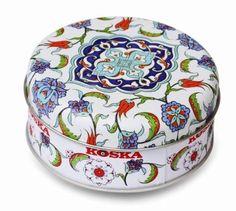 Koska Mixed Nut Turkish Delight In Beautiful Round Keepsake Gift Tin 120G - http://www.yourgourmetgifts.com/koska-mixed-nut-turkish-delight-in-beautiful-round-keepsake-gift-tin-120g/