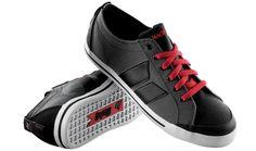 Macbeth Shoes | Elliot Dark Grey, Black & Red