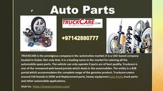 #AutoParts  Truckcare covers around 150 brands in OEM and Replacement parts, heavy equipment Auto Parts, truck parts and other automobile applications.