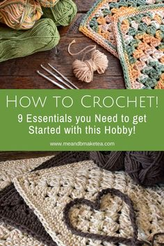 9 Must-Have Items for Crochet Beginners - essentials you will need if you're looking to take up a new hobby during the lockdown. Crochet tips and tricks from someone who started out not knowing a thing!    #crochet #learntocrochet #lockdown #diy #homeprojects #handmade The Happy Hooker, Learn To Crochet, Crochet Things, Brain And Heart, Thing 1, Must Have Items, Crochet For Beginners, New Hobbies, Diy Design