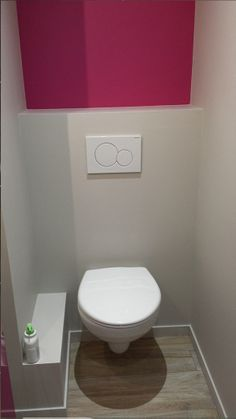 1000 images about d co toilettes on pinterest purple for Amenagement wc petite surface