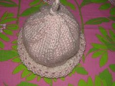Infant hat made for hospital charity