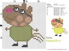 Peter pony cross stitch Peppa pig