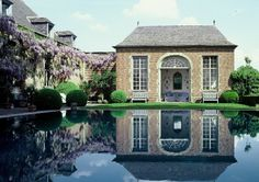 Axel Vervoordt. Love. Facade Design, Exterior Design, House Design, Outdoor Spaces, Outdoor Living, Axel Vervoordt, Les Continents, Cool Pools, Pool Houses