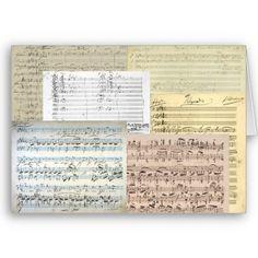Miscellaneous original musical manuscripts written by Johannes Brahams