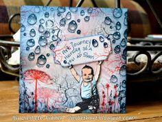 Liesbeth's Arts & Crafts - altered envelope Mail Art Envelopes, Envelope Art, Happy Mail, Snail Mail, Mixed Media Art, Paper Art, Zentangle, Stamping, Challenges