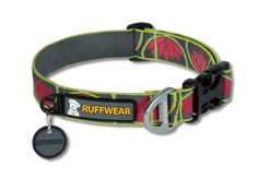 The Lotus Flower inspired Ruffwear Hoopie dog collar. The classic styling of this dog collar makes it sleek enough for city streets and tough enough for the backcountry.
