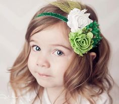 St. Patrick's Day Baby / Toddler Gift:  St. Patrick's Day Headband by Avas Purple Paislee at Etsy