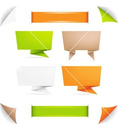 Origami+paper+banner+vector+689384+-+by+barbaliss on VectorStock®