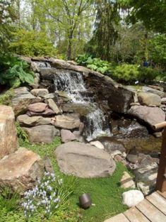 60+ ENCHANTING IDEAS FOR GARDEN POND WATERFALL DESIGNS