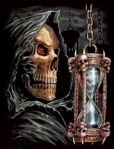 Seeing the Grim Reaper Don't Fear The Reaper, Grim Reaper Art, Grim Reaper Tattoo, Dark Fantasy Art, Dark Art, Art Harley Davidson, Totenkopf Tattoos, Skull Pictures, Skull Artwork
