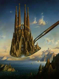 Vladimir Kush, often compared to Dalí and one of my favorites - Imgur                                                                                                                                                                                 More