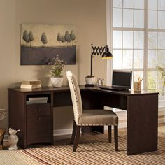 Found it at Wayfair - Buena Vista Egger L-Shape Computer Desk